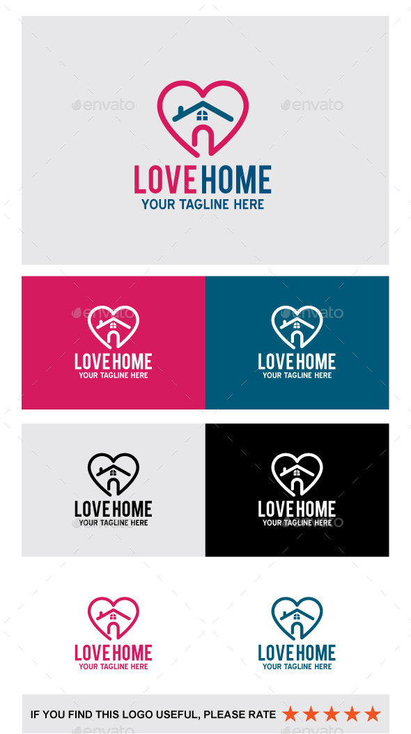 LOVE HOME - Abstract Logo Templates