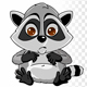 Cartoon Raccoon Crying - VideoHive Item for Sale