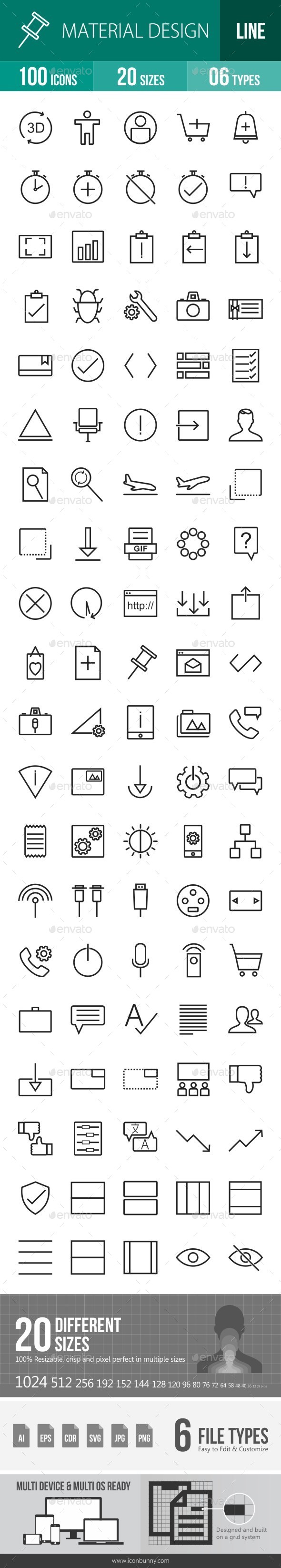Material Design Line Icons - Icons