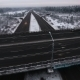 Road Junction In Winter In Winter Aerial Shot - VideoHive Item for Sale