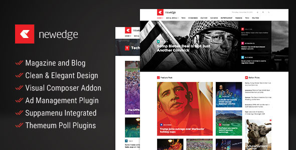 NewEdge – Responsive WordPress Magazine Theme