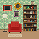 Interior of Living Room - GraphicRiver Item for Sale