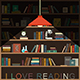 Bookshelf and Lighting Lamp - GraphicRiver Item for Sale