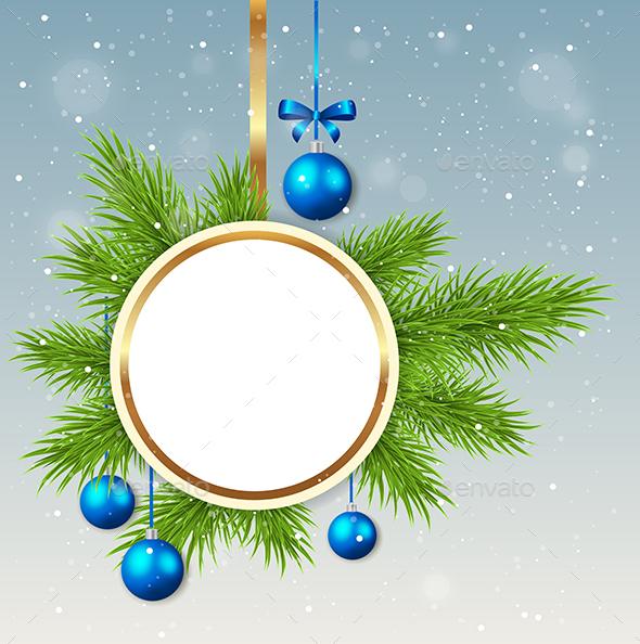 Round Christmas Banner - Christmas Seasons/Holidays