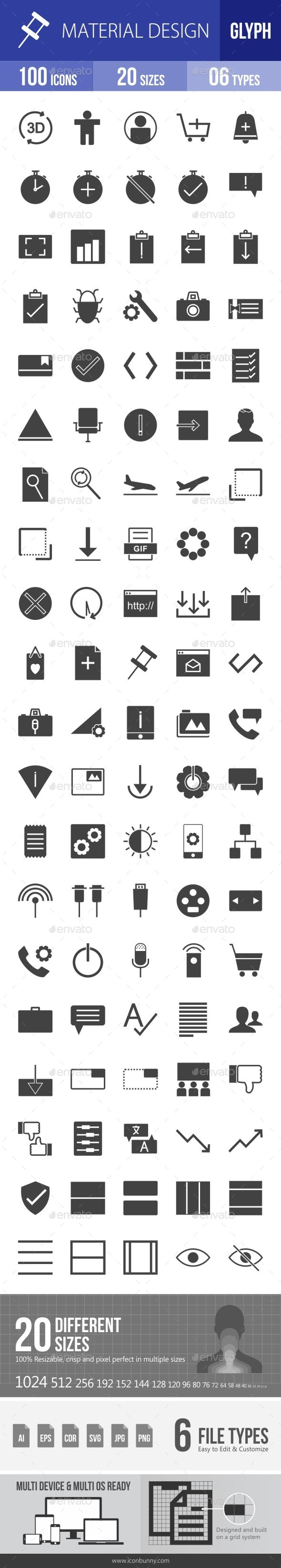 Material Design Glyph Icons - Icons