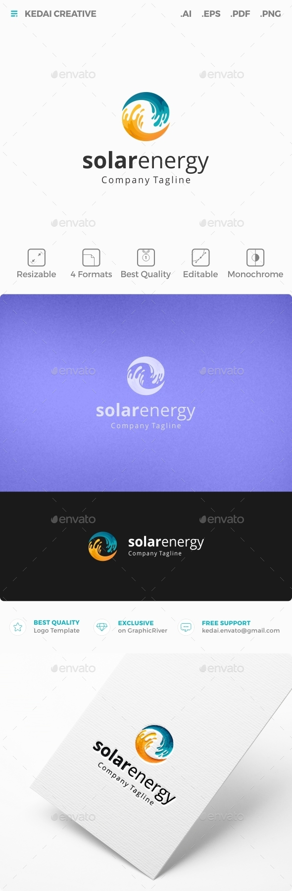 Solar Energy - Nature Logo Templates