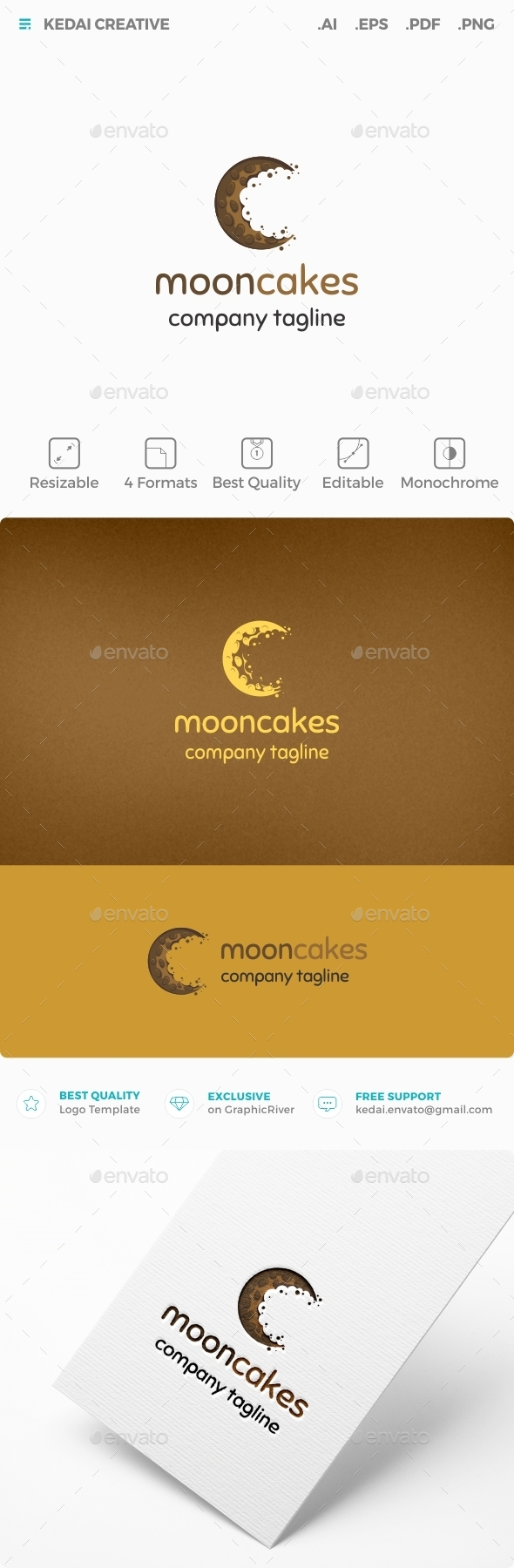 Mooncakes - Food Logo Templates