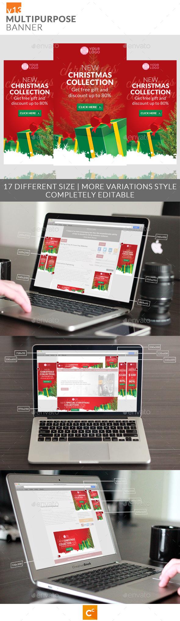Multipurpose Banner Ads v13 - Banners & Ads Web Elements