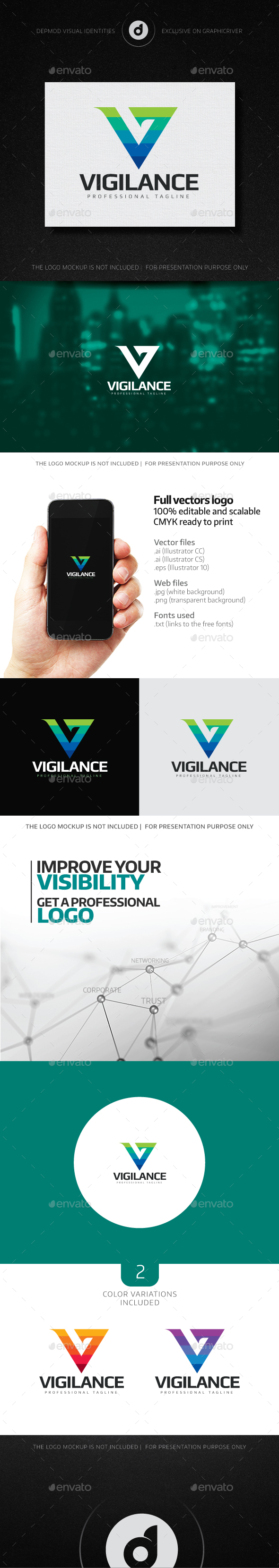 Vigilance Logo - Letters Logo Templates