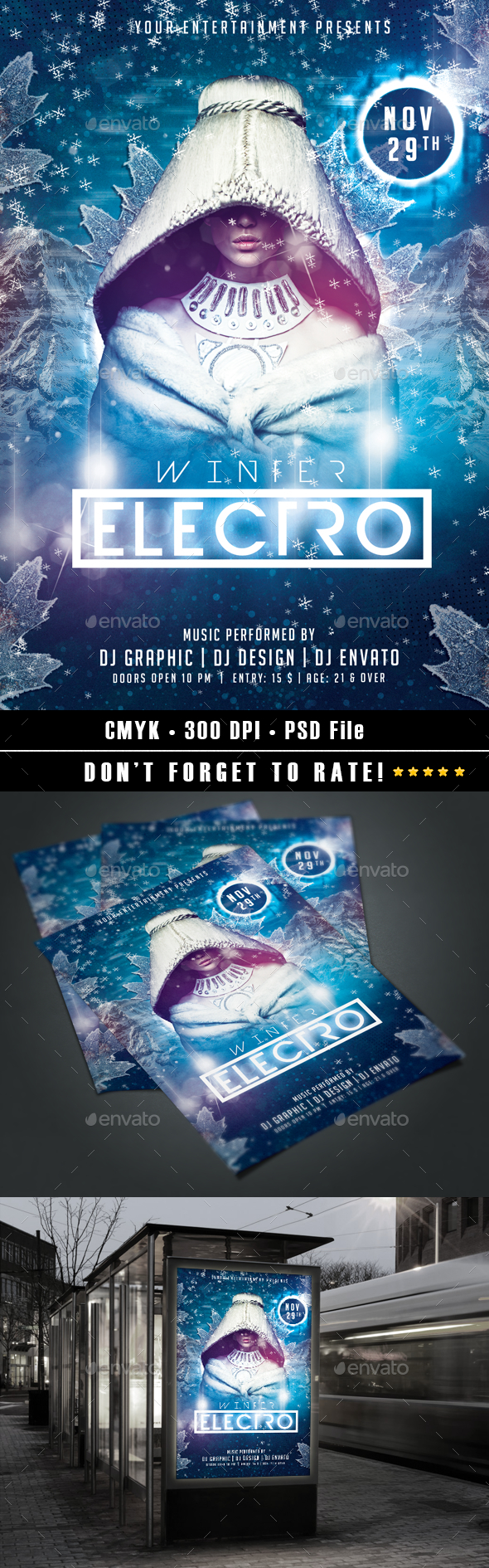 Winter Electro Flyer - Events Flyers