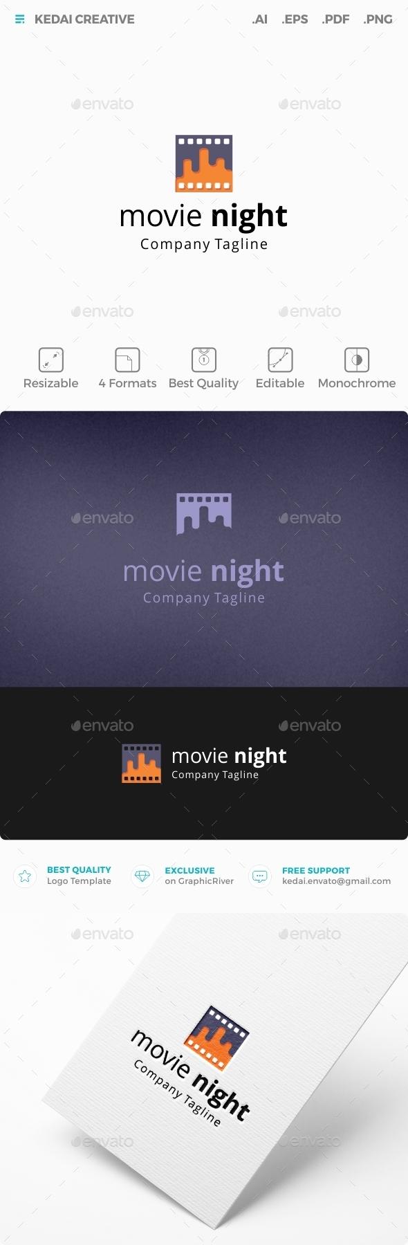 Movie Night - Symbols Logo Templates