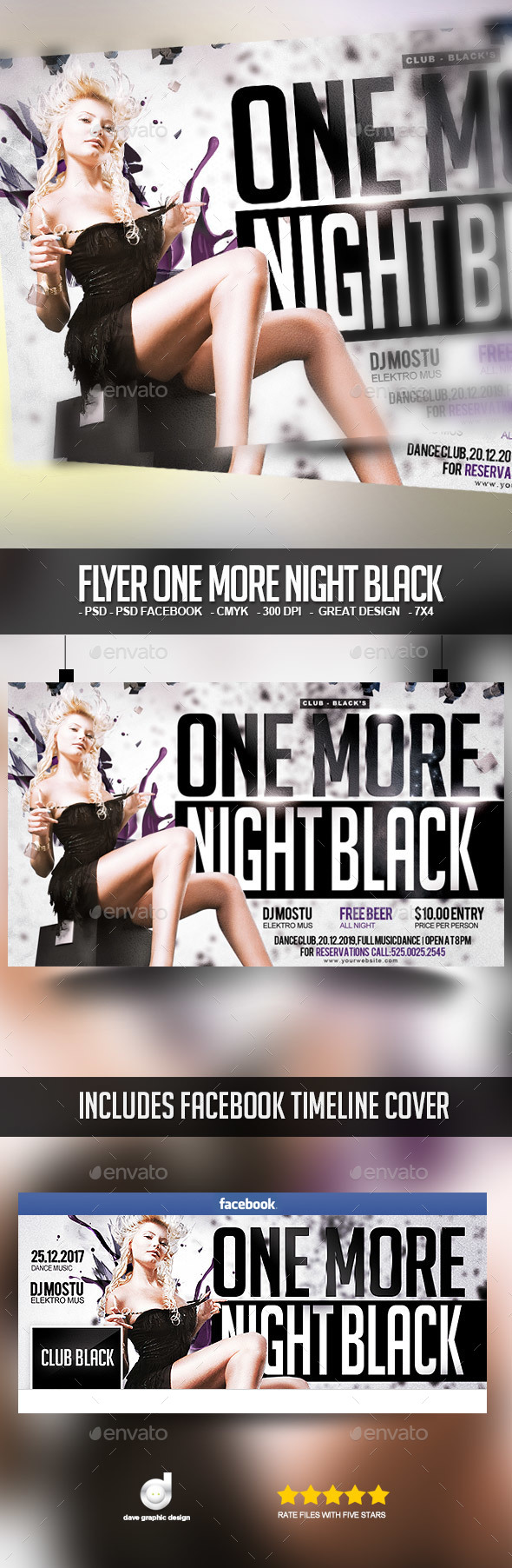 Flyer One More Black Night - Clubs & Parties Events