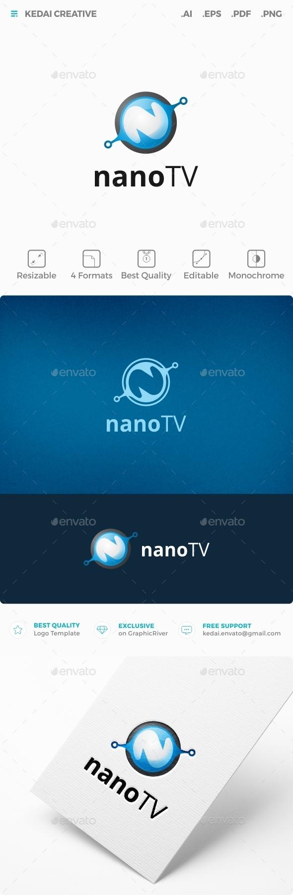 Nano TV - Letters Logo Templates