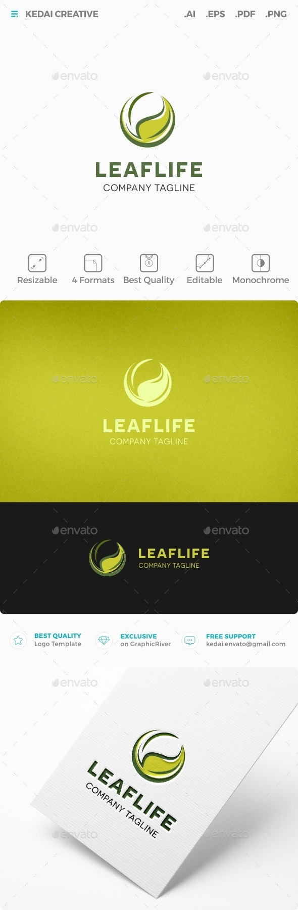 Leaf Life - Food Logo Templates
