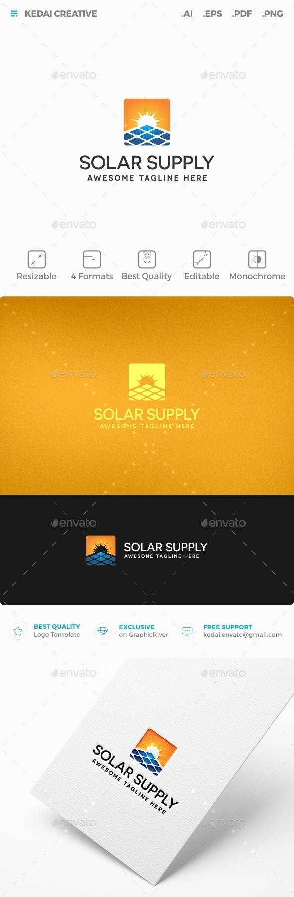 Solar Supply - Nature Logo Templates