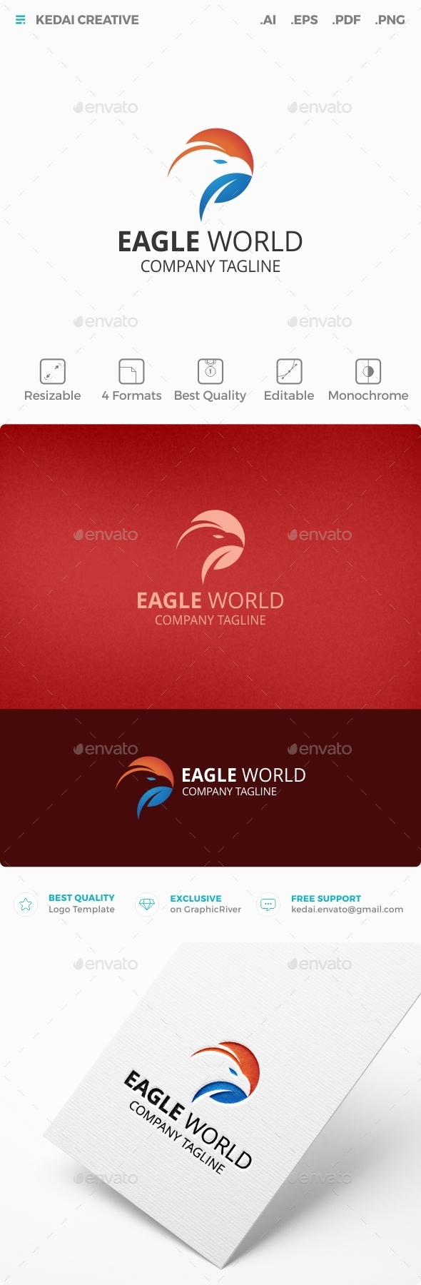 Eagle World - Animals Logo Templates