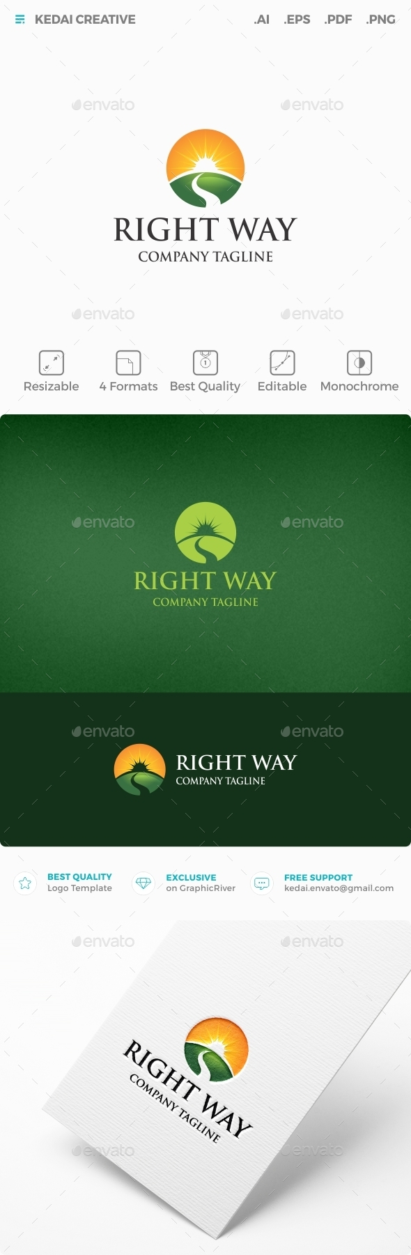 Right Way - Nature Logo Templates