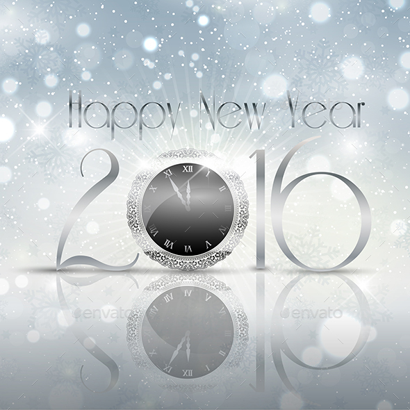 New Year Clock Design - New Year Seasons/Holidays