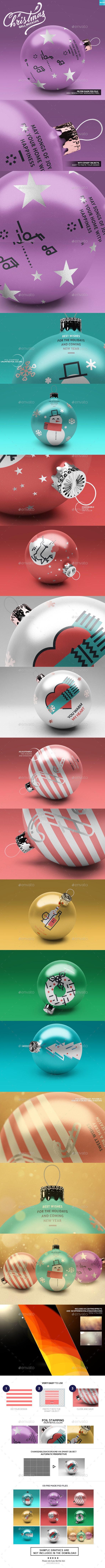Christmas Ball Mockups - Miscellaneous Print