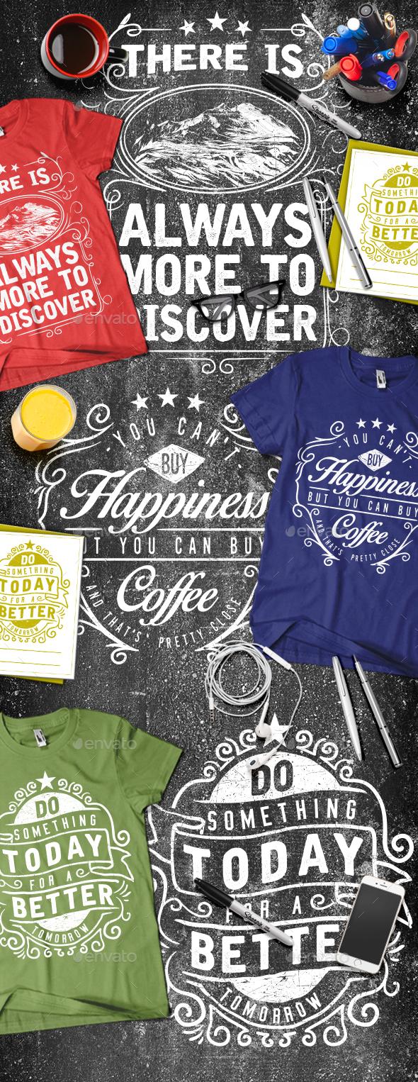 3 Typography T-shirt Vol.3 - T-Shirts
