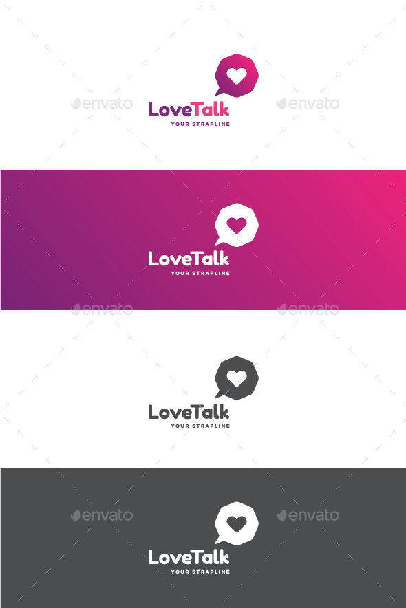 Love Talk Logo - Symbols Logo Templates