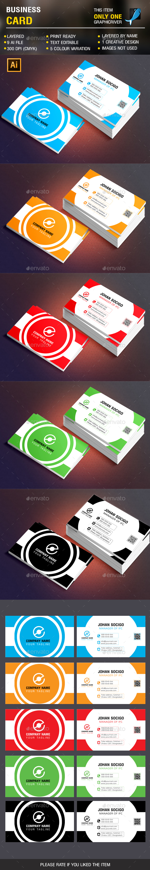 Clean Busienss Card Vol 3 - Corporate Business Cards