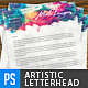 Creative Artistic Watercolour Letterhead - GraphicRiver Item for Sale