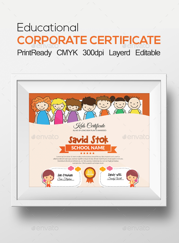 Kids Certificate - Certificates Stationery