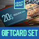 Food Gift Voucher Set - GraphicRiver Item for Sale