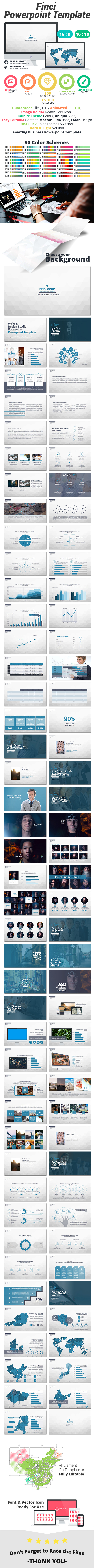 Finci Powerpoint Template - Business PowerPoint Templates