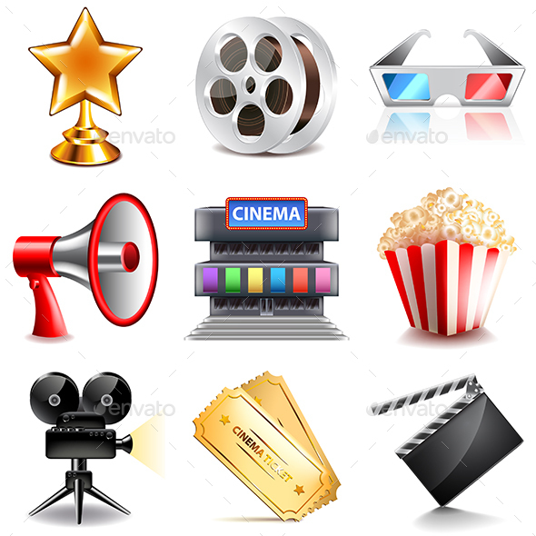 Cinema Icons Vector Set - Miscellaneous Conceptual