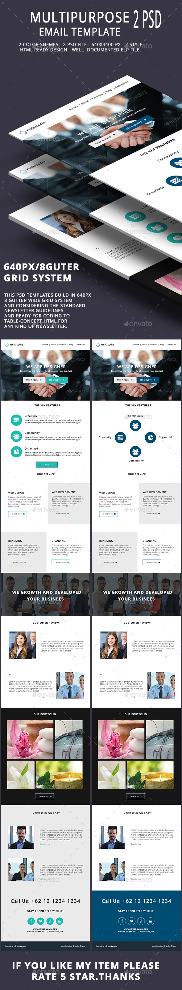 Multipurpose Email Template V9 - E-newsletters Web Elements