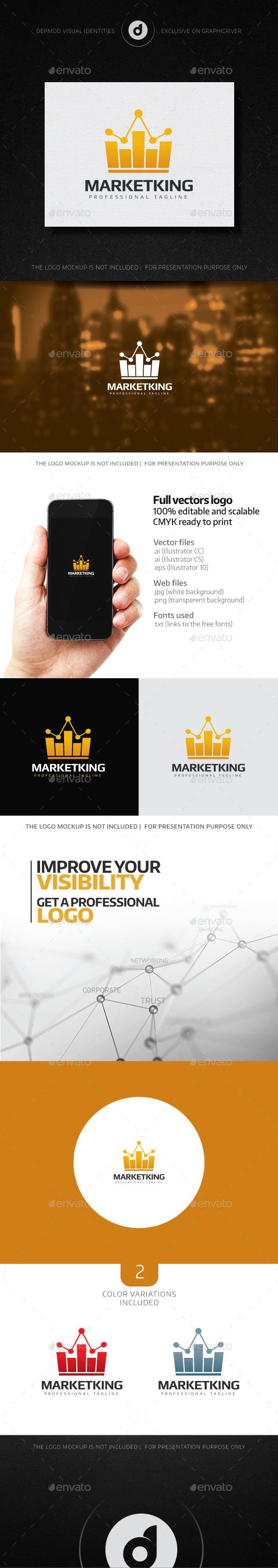 MarketKing Logo - Symbols Logo Templates
