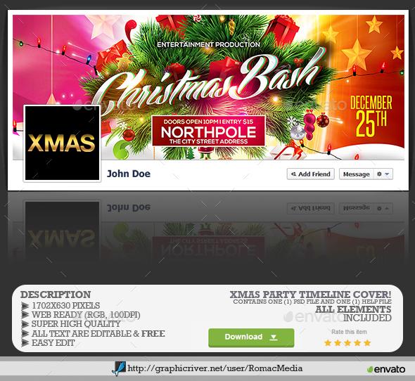 Christmas Bash Facebook Timeline Cover - Facebook Timeline Covers Social Media
