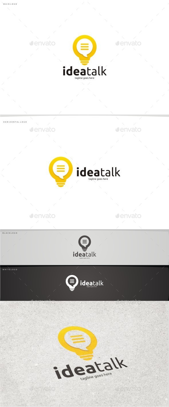 Idea Talk - Abstract Logo Templates