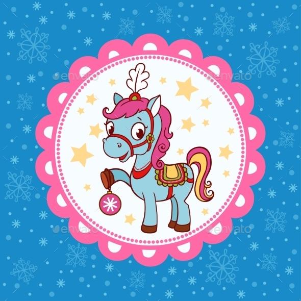 Horse Circus Card Design. - Decorative Symbols Decorative