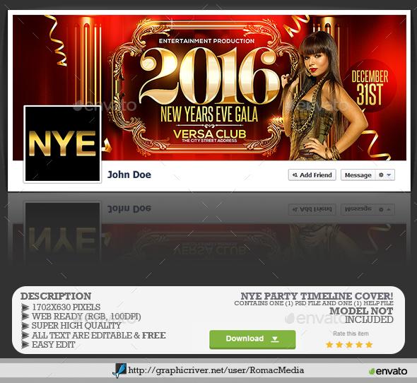 NYE Gala Party Facebook Timeline Cover - Facebook Timeline Covers Social Media