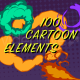 100 Cartoon Elements - VideoHive Item for Sale