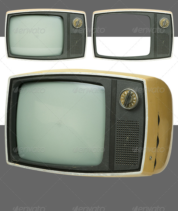 Antique TV set - Technology Isolated Objects