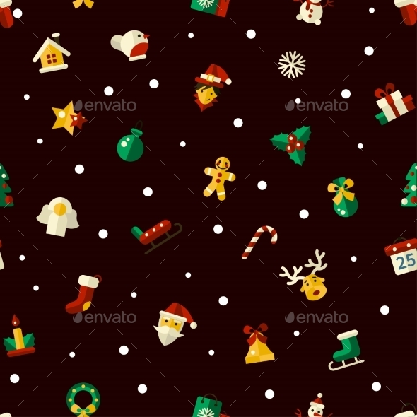 Christmas And Happy New Year Pattern - New Year Seasons/Holidays