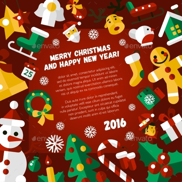 Christmas And Happy New Year Postcard - New Year Seasons/Holidays