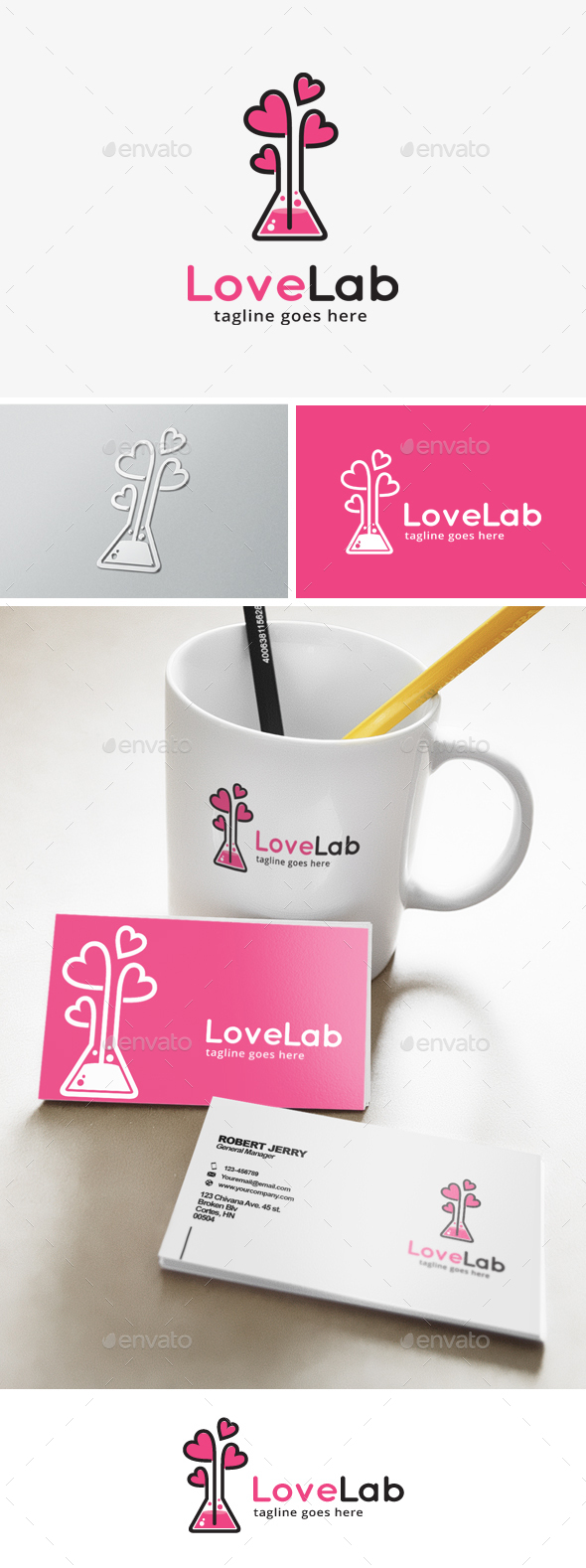 Love Lab Logo - Objects Logo Templates