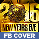 Gold NYE Party Facebook Timeline Cover - GraphicRiver Item for Sale