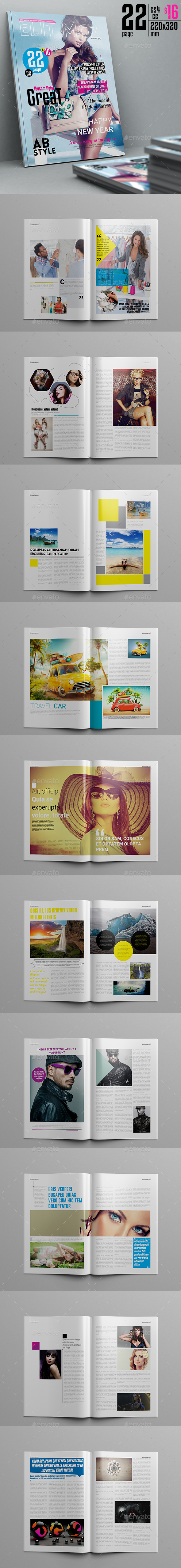 Elit Magazine Template 22 Pages - Magazines Print Templates