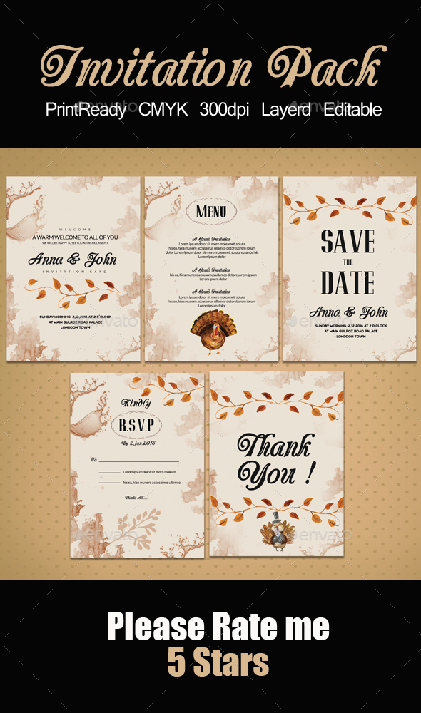 Invitation Pack Templates - Invitations Cards & Invites