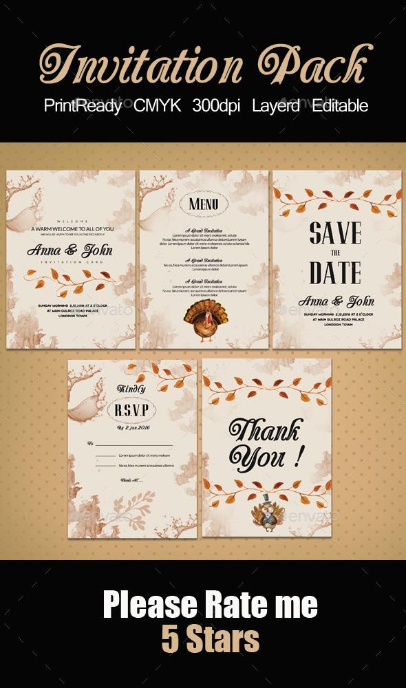 Invitation Pack Templates - Invitations Cards & Invites