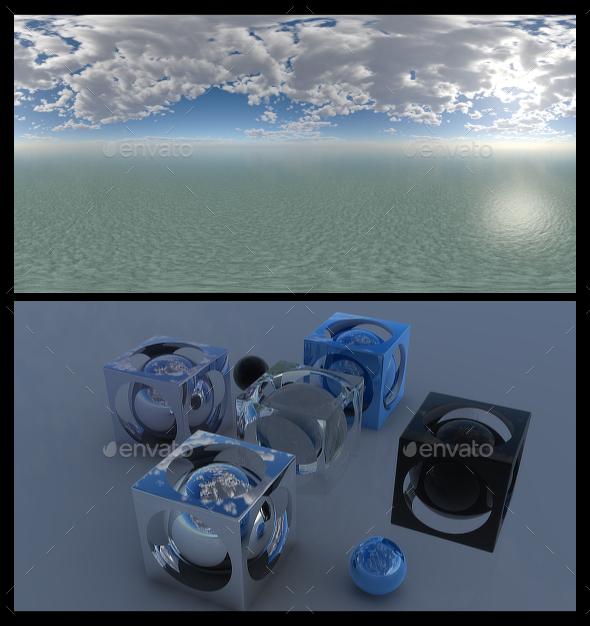 Cloudy Ocean Day 2 - HDRI - 3DOcean Item for Sale