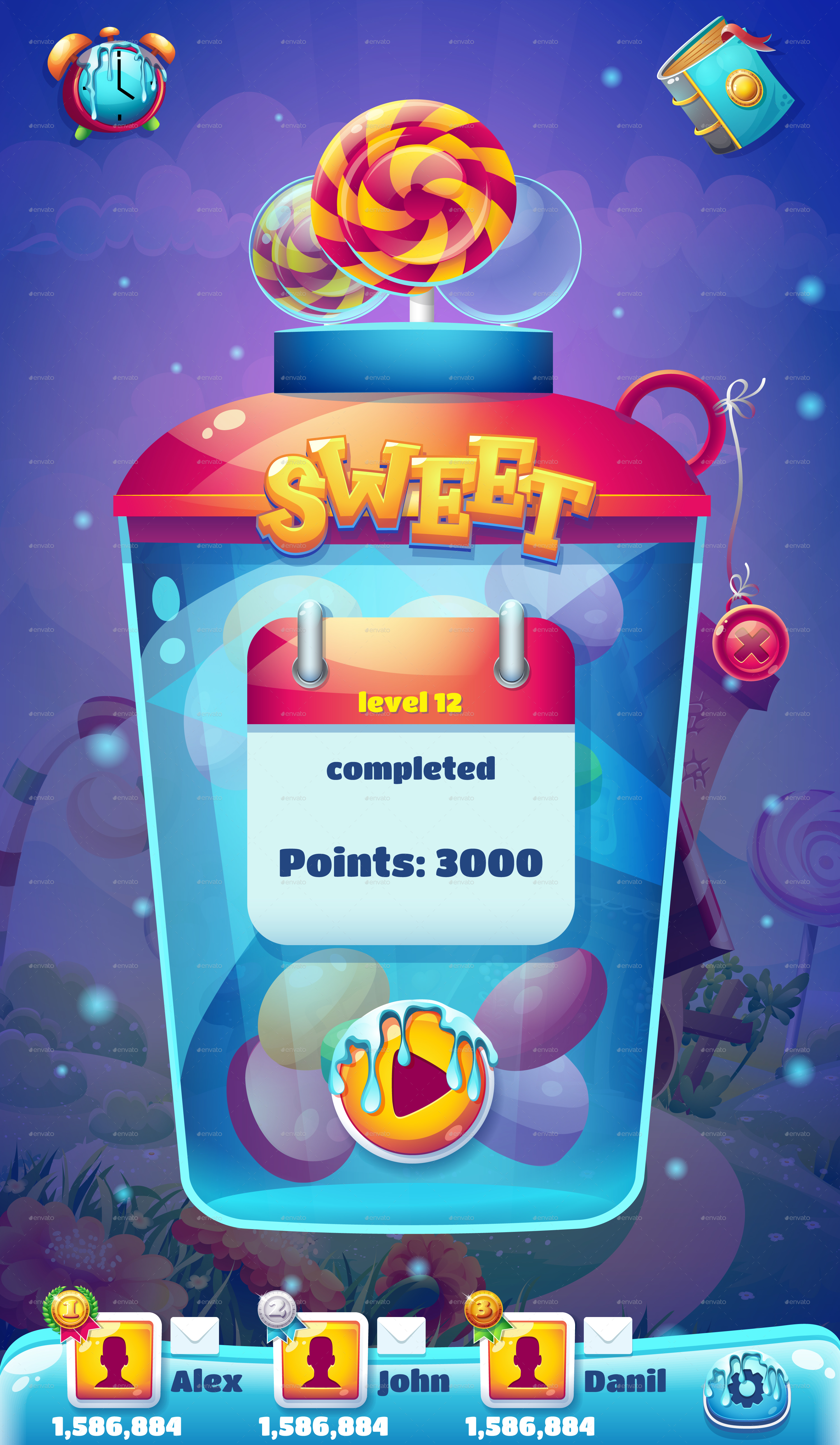 Sweet world mobile gui pack 01 by nearbirds graphicriver world mobile gui level completed screen for video web games g gumiabroncs Choice Image