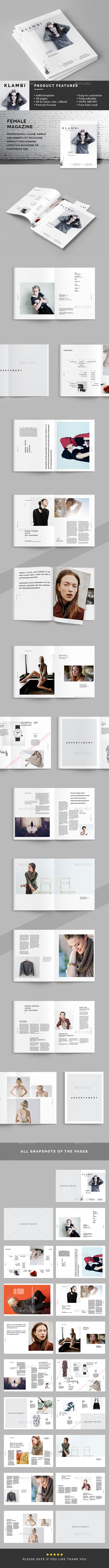 Female Magazine Template - Magazines Print Templates
