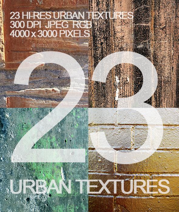 23 Urban Wall Textures - Industrial / Grunge Textures